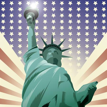 La statue de la liberté aux Etats-Unis